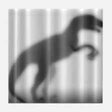 Raptor Silhouette Tile Coaster