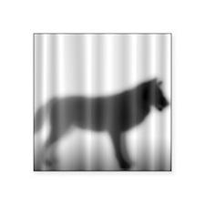 """Wolf Silhouette Square Sticker 3"""" x 3"""""""