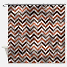 Vintage Fall Chevron Shower Curtain