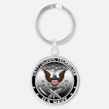 Cool Support the troops Round Keychain