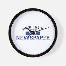 Property Of The Newspaper XXL Wall Clock