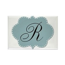 Teal Monogram by LH Magnets