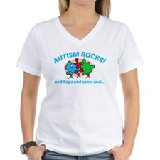 Autism Rocks and flaps and spins T-Shirt