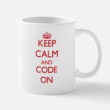 Keep Calm and Code ON Mugs