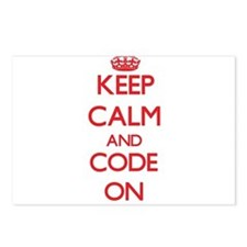 Keep Calm and Code ON Postcards (Package of 8)