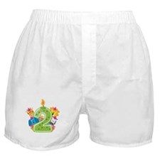 Second Birthday Green Boxer Shorts