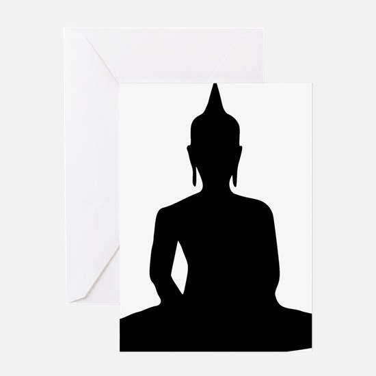 Cute Buddhist temple Greeting Card