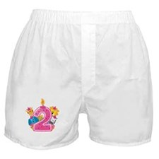 Second Birthday Pink Boxer Shorts
