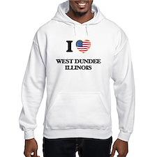 I love West Dundee Illinois Hoodie