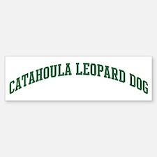 Catahoula Leopard Dog (green) Bumper Bumper Bumper Sticker