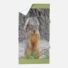 Cute Squirrel Beach Towel
