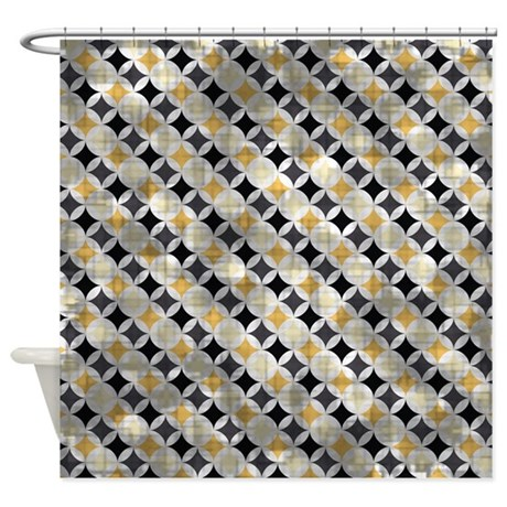 Vintage Blue And Gold Diamonds Shower Curtain By
