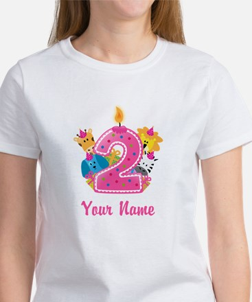 CUSTOM 2 years old Pink T-Shirt