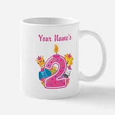 CUSTOM 2 years old Pink Mugs