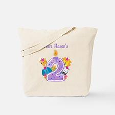 CUSTOM 2 Years Old Purple Tote Bag