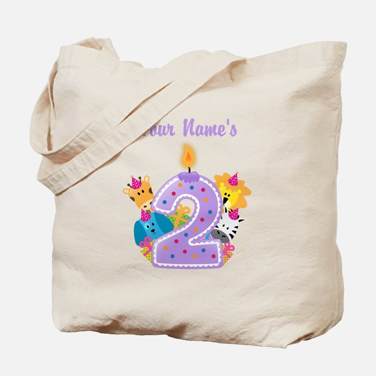 CUSTOM 2 Years Old Purple Tote Bag