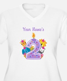 CUSTOM 2 Years Old Purple Plus Size T-Shirt