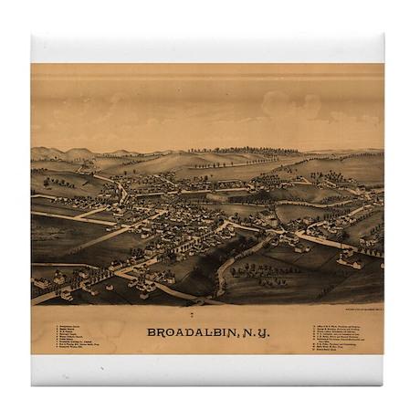 Broadalbin, New York. 1880. Tile Coaster