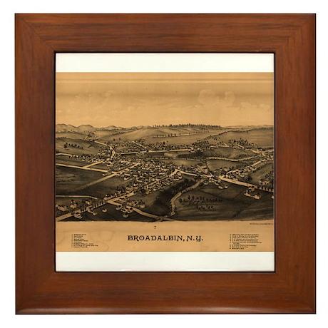 Broadalbin, New York. 1880. Framed Tile