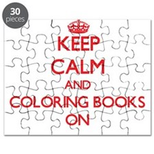 Keep Calm and Coloring Books ON Puzzle
