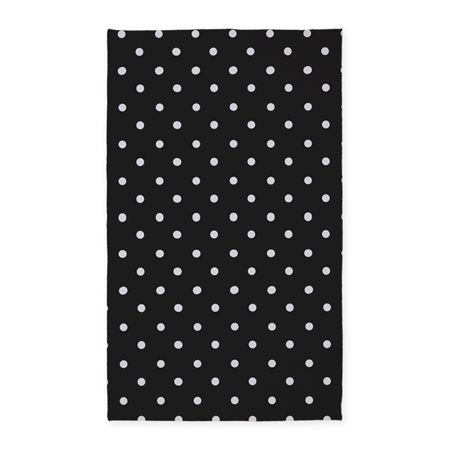 Rug Black And White Round Bath Rug :