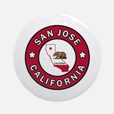 San Jose Round Ornament