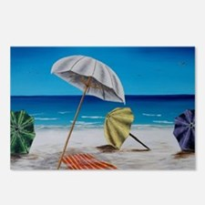 Cool Beach umbrella Postcards (Package of 8)