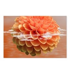 Surreal Coral Colour Dahl Postcards (Package of 8)