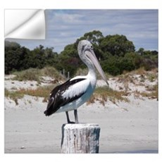 Pelican Standing on Watch Wall Decal