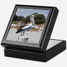 Pelican Standing on Watch Keepsake Box