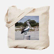 Pelican Standing on Watch Tote Bag