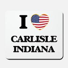 I love Carlisle Indiana Mousepad