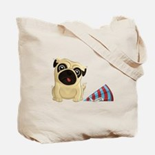 Happy Birthday Pugs Double-Sided Tote Bag
