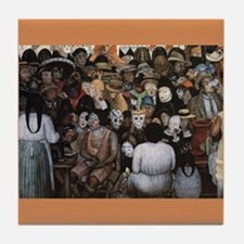 Diego Rivera Art Tile Detail Day of the Dead