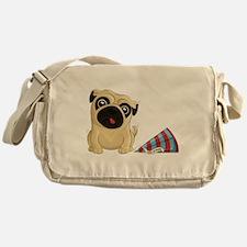 Birthday Pug Messenger Bag