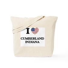 I love Cumberland Indiana Tote Bag