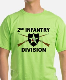 2nd Infantry Division - Crossed Rifles T-Shirt