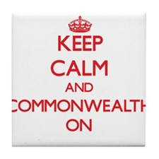 Keep Calm and Commonwealth ON Tile Coaster