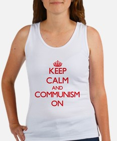 Keep Calm and Communism ON Tank Top