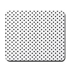 White and Black Polka Mousepad