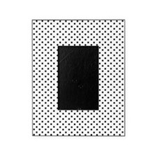 White and Black Polka Picture Frame