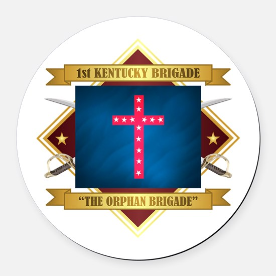 The Orphan Brigade Round Car Magnet