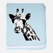 The Shady Giraffe baby blanket