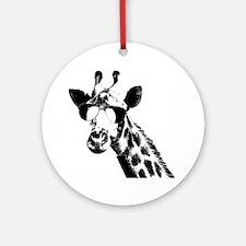 The Shady Giraffe Ornament (Round)