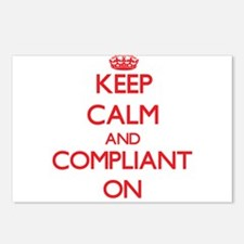 Keep Calm and Compliant O Postcards (Package of 8)