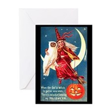 Moon Witch Greeting Card