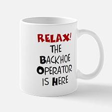 backhoe here Mug
