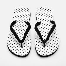 White and Black Polka Flip Flops