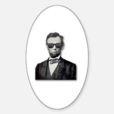 Shady Abe Sticker (Oval)