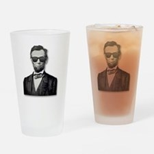 Shady Abe Drinking Glass
